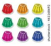vector colorful gelatin jelly... | Shutterstock .eps vector #461168692