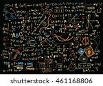 math linear mathematics... | Shutterstock .eps vector #461168806