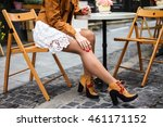 outdoor fashion portrait of... | Shutterstock . vector #461171152