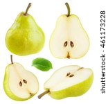 Isolated Pears. Collection Of...