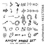vector hand drawn arrows set | Shutterstock .eps vector #461173366
