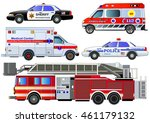 emergency transport icons set.... | Shutterstock .eps vector #461179132