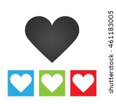 heart icon. simple logo of... | Shutterstock . vector #461183005