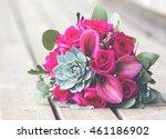beautiful flower bouquet with a ... | Shutterstock . vector #461186902