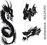 dragon vector | Shutterstock .eps vector #46119193
