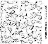 set of floral design elements | Shutterstock .eps vector #46119655