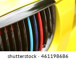 Colorful Front Grille Of A Car...