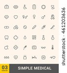 vector thin icons design set.... | Shutterstock .eps vector #461203636