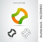 set of o letter logo design... | Shutterstock .eps vector #461204842