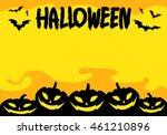 graphic halloween  vector   Shutterstock .eps vector #461210896