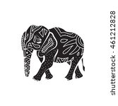 elephant icon in simple style... | Shutterstock .eps vector #461212828