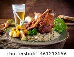 pork hock in german with sauces ... | Shutterstock . vector #461213596