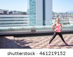 young fitness female doing some ... | Shutterstock . vector #461219152