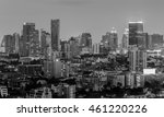 black and white  city business... | Shutterstock . vector #461220226