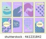 set of  modern hipster trendy ... | Shutterstock . vector #461231842