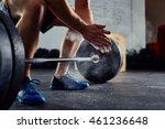 closeup of weightlifter... | Shutterstock . vector #461236648