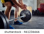 weightlifter clapping hands... | Shutterstock . vector #461236666