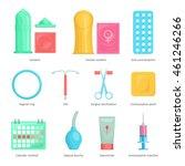 contraception methods cartoon... | Shutterstock .eps vector #461246266