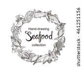 vector line sketches of fish... | Shutterstock .eps vector #461251156