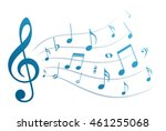 music notes. | Shutterstock . vector #461255068