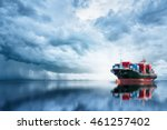 international container cargo... | Shutterstock . vector #461257402