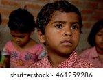 group of school children... | Shutterstock . vector #461259286