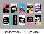 super sale  discount  hand... | Shutterstock .eps vector #461259352