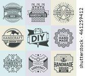 handicraft and diy insignias... | Shutterstock .eps vector #461259412