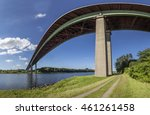north sea baltic canal  crossed ... | Shutterstock . vector #461261458