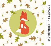 vector illustration of a fall... | Shutterstock .eps vector #461264278
