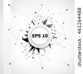vector white banner background... | Shutterstock .eps vector #461264488