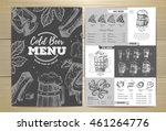 vintage cold beer menu design | Shutterstock .eps vector #461264776