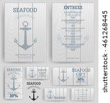 seafood restaurant menu... | Shutterstock .eps vector #461268445