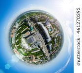 aerial city view with... | Shutterstock . vector #461270392