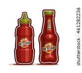 vector logo tomato ketchup... | Shutterstock .eps vector #461282236
