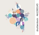 abstract colorful geometric... | Shutterstock .eps vector #461283145