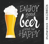 vector hand lettering quote  ... | Shutterstock .eps vector #461288026