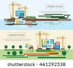 flat design of website under...