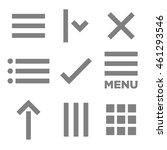 flat menu icon illustration for ...