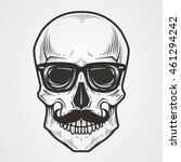 bearded skull illustration | Shutterstock .eps vector #461294242