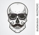 bearded skull illustration | Shutterstock .eps vector #461294242