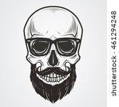 bearded skull illustration | Shutterstock .eps vector #461294248