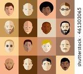 illustrated vector man head set ... | Shutterstock .eps vector #461303065