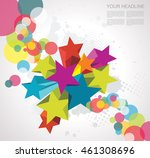 abstract background with stars. ... | Shutterstock .eps vector #461308696