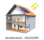 solar thermal energy system in...   Shutterstock . vector #46131094