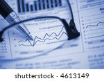 pen on financial report ... | Shutterstock . vector #4613149