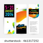 abstract liquid bubbles shapes... | Shutterstock .eps vector #461317252