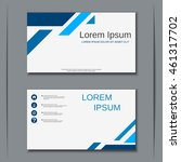 modern business visiting card... | Shutterstock .eps vector #461317702