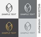 abstract lotus logo design... | Shutterstock .eps vector #461327146