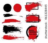 large grunge elements set.... | Shutterstock .eps vector #461328445